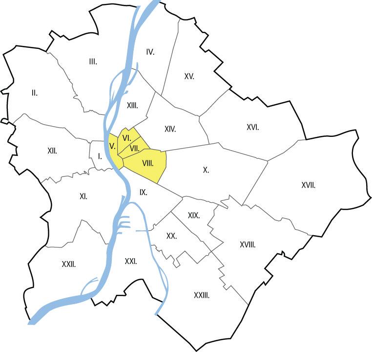 Autóbérlés Budapest V., VI., VII., VIII. kerület