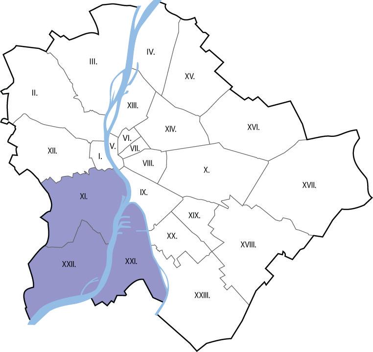 Autóbérlés Budapest  XI., XXI., XXII. kerület